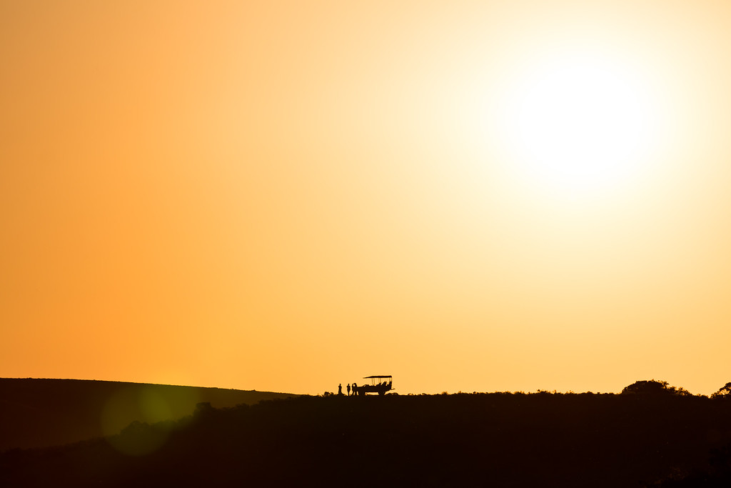 Sundowners at Amakhala Game reserve, Eastern Cape