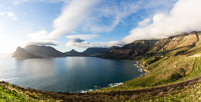 Chapman's Peak Drive and Hout Bay (2 image stitch)