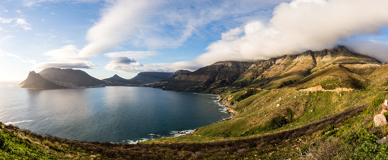 Chapman's Peak Drive and Hout Bay (5 image stitch)