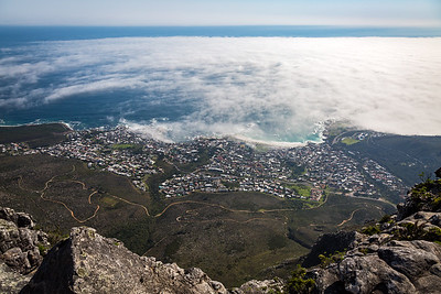 Camps Bay in low cloud