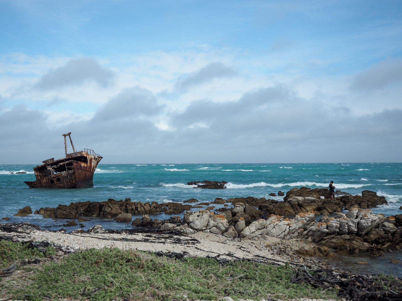 Shipwreck near Cape Agulhas