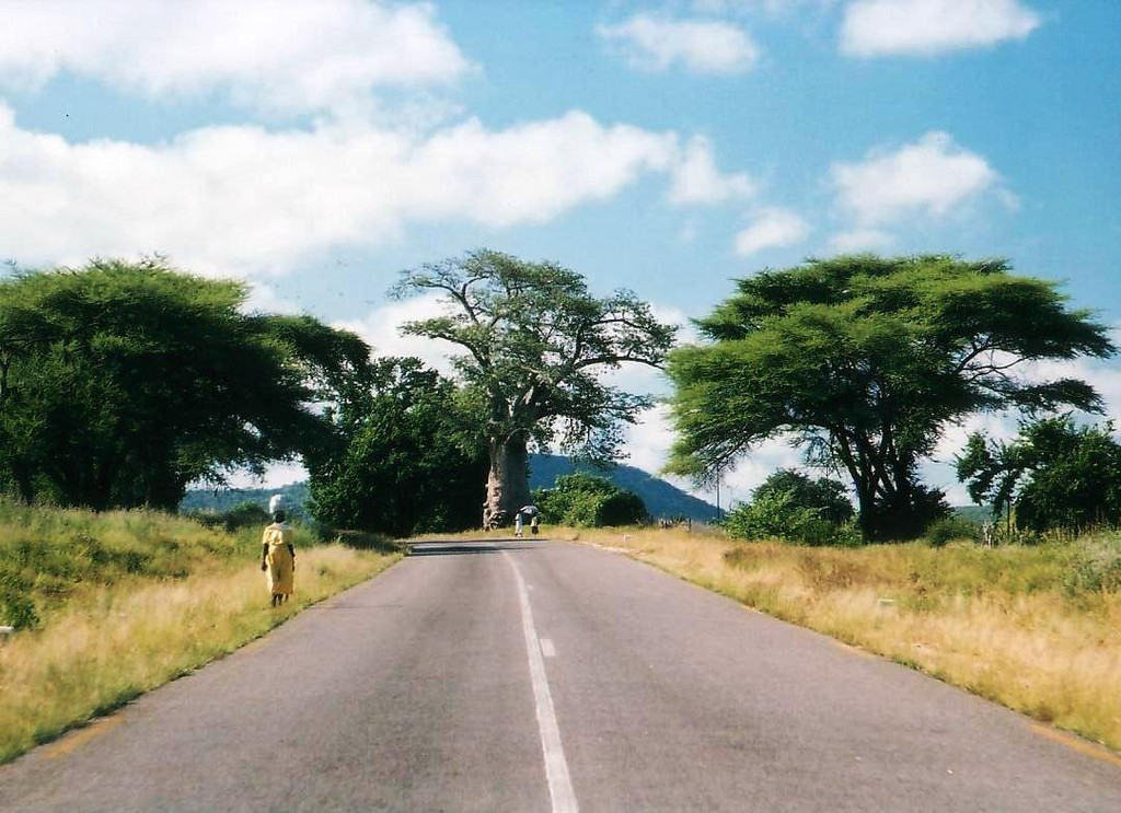 HWY 8 south to Bulawayo 2002