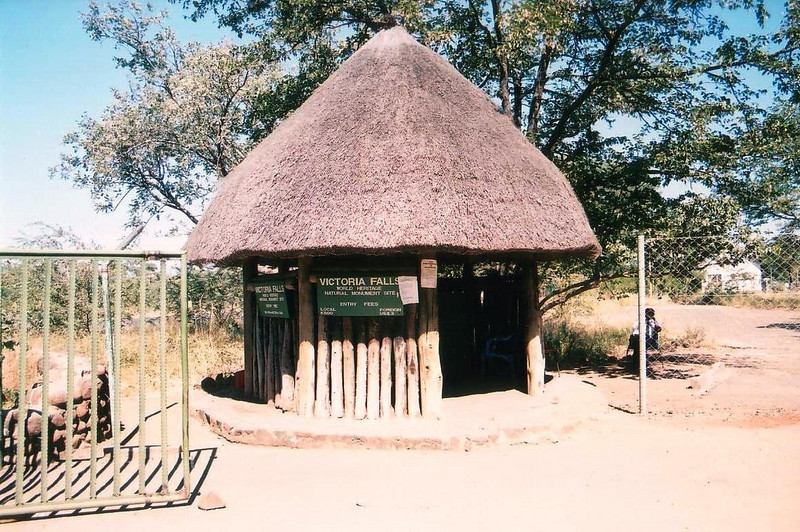 Zmabia crossing at Victoria Falls, were you can sign the visitors log. 2002