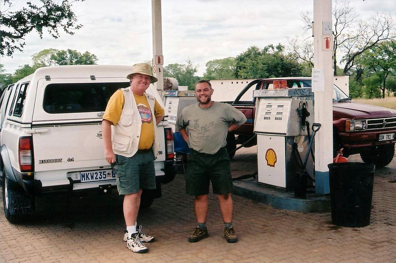 Our Botswana gas station friend, he had a girfriend in Winnepeg, of all things! 2002