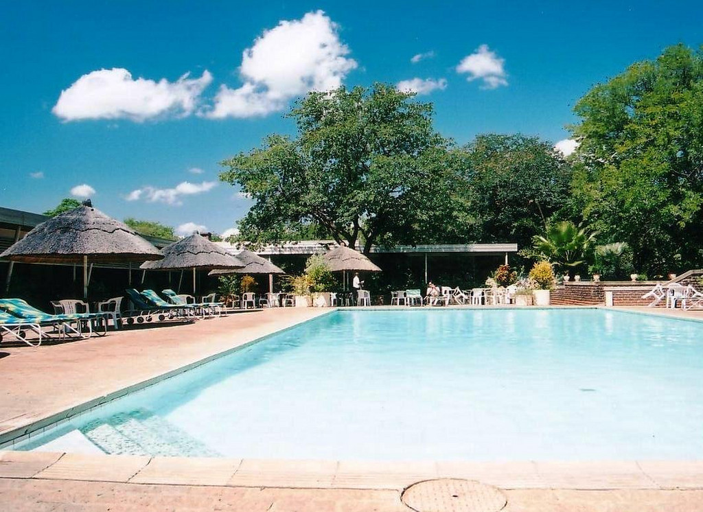 Sprayview Hotel's pool at Victoria Falls, Zimbabwe 2002