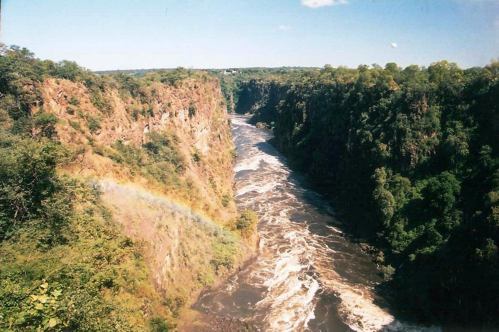 From the Victoria Falls Bridge over the Zambezi River 2002