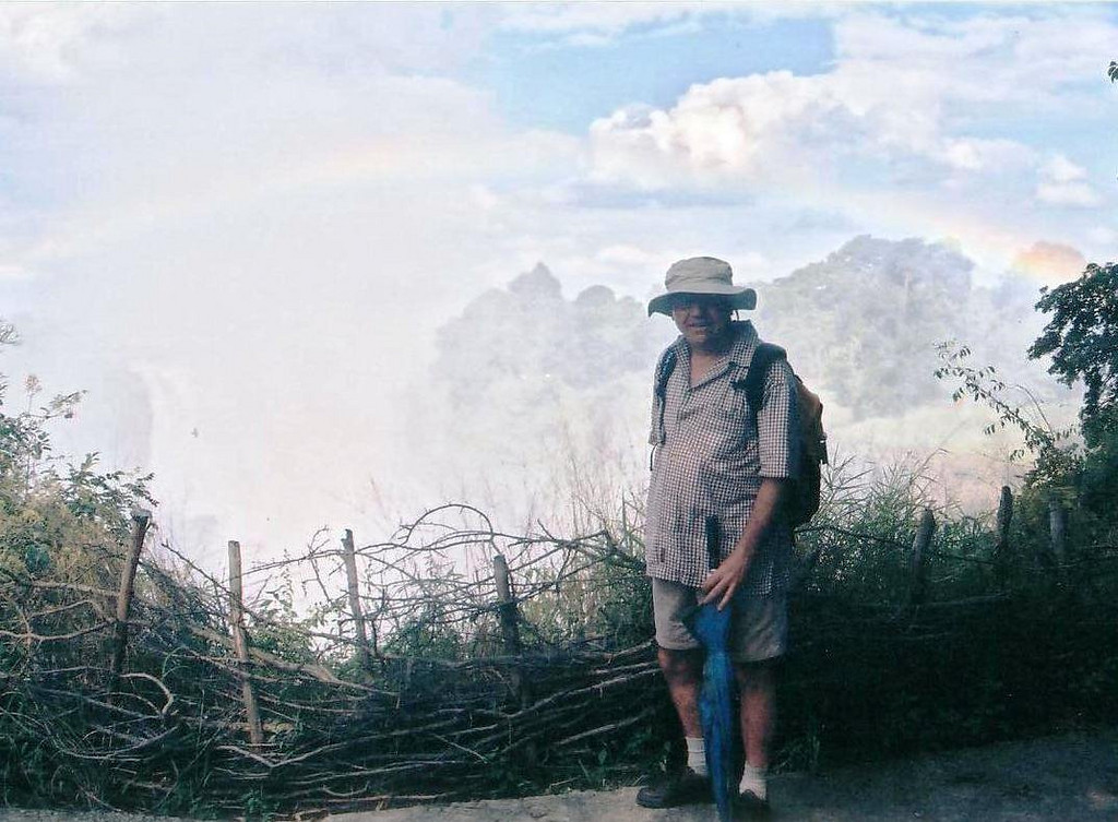 You need to have a hat and rain gear at Victoria Falls because the mist can be so heavy in places that it is like a tropical downpour...all the time... 2002