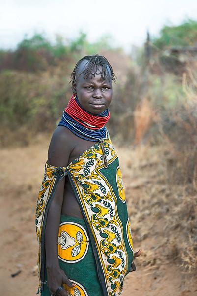 Turkana woman. Lokichoggio, northwestern Kenya