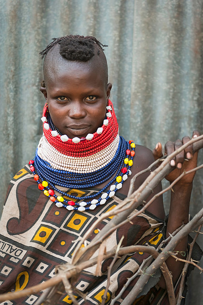 Young Turkana girl. Lokichoggio, northestern Kenya