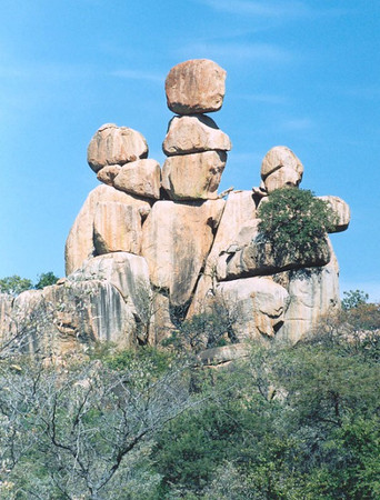 'Mother and Baby' balancing rocks, Matopos NP