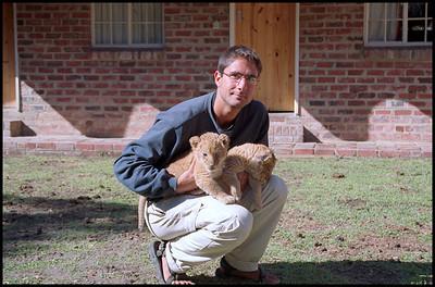 Me with lion cubs, Antelope Park, Gweru