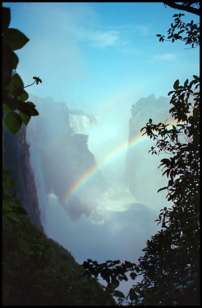 Victoria Falls from Cateract view point, Zimbabwe side