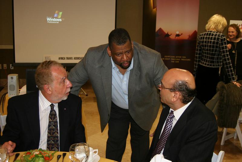 Mr. A. Hatour of EgyptAir, Mike Madison, president of the LA ATA and H.E. Sayed Khalifa