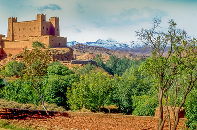 Acres, Kasbah and eternal snow as we climb up the mountain