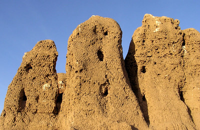Deffufa, Kerma.  Weird, ancient, and weathered, the enormous deffufas at Kerma are slowly returning to a state of nature.