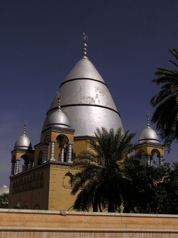 Mahdi's Tomb, Khartoum.  The Mahdi kicked the British out of Khartoum for a time in the 1800s, and is still revered among many Sudanese.