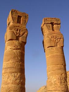 Hathor columns, Jebel Barkal
