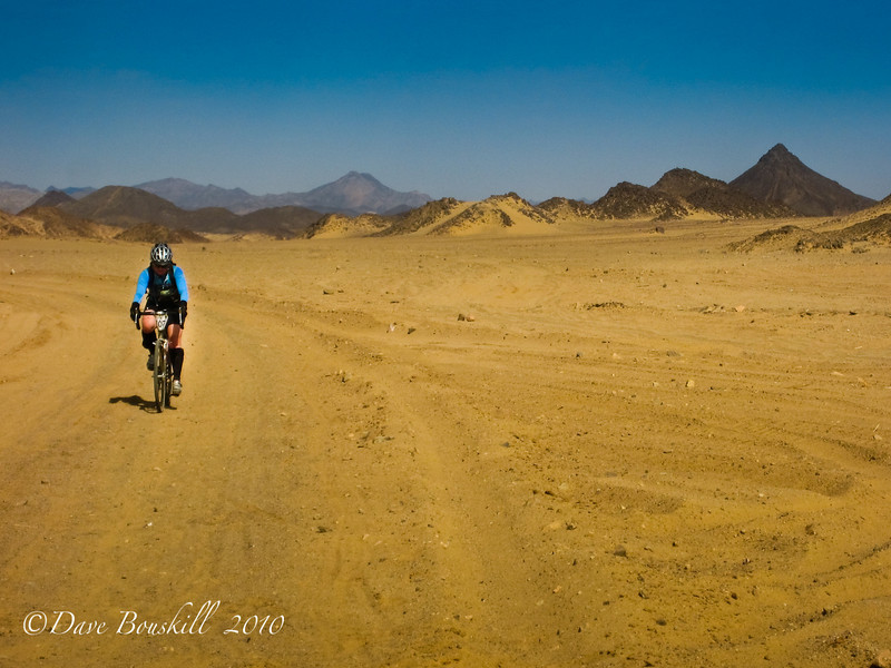 You can even cycle thru the desert of Africa