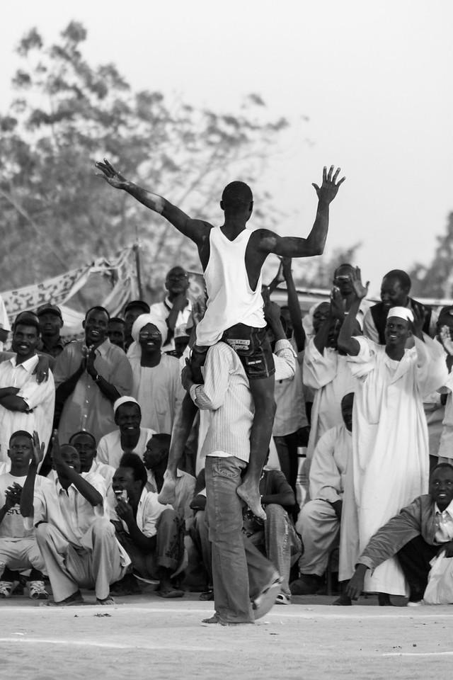 Nuba wrestling, Khartoum