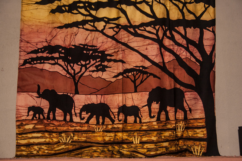 I loved this elephant batik. It was handmade by the local women.