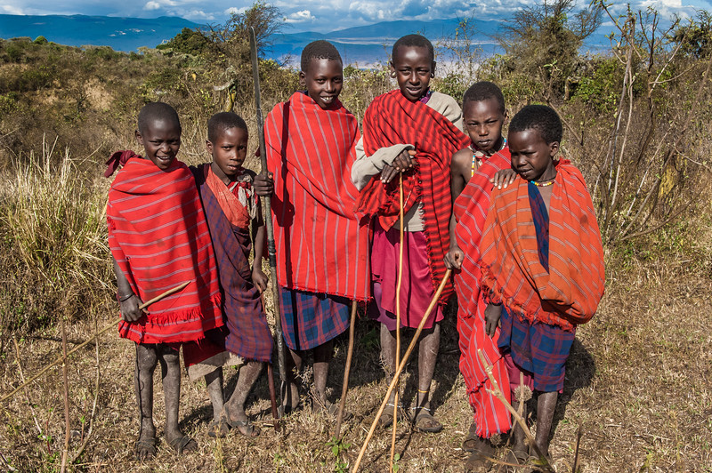 Maasai Boys, Ngorongoro Creater, Tanzania