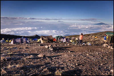 Morning at Karanga Camp, 3960m, Day 5