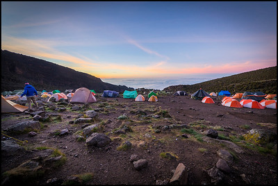 Sunrise at Barranco Camp, 3900m on Day 4