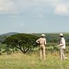 Susan and Barbara at morning break, Lamai Serengeti, Tanzania