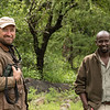 Lee Whittam and local driver/guide, Amos at Mwiba Lodge, Tanzania