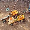 Close up of the homemade toys the boys were playing with. Usambara Mountains, Tanzania
