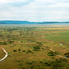 "Aerial view of the <a target=""NEWWIN"" href=""http://en.wikipedia.org/wiki/Serengeti"">Serengeti</a>, Tanzania"