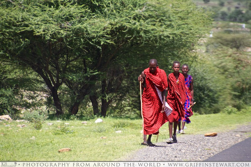 Maasai On The Road