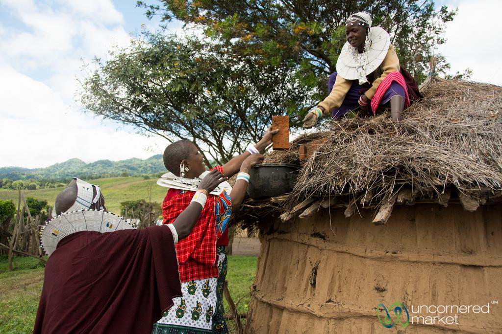 Installing a Clean Cookstove - Tanzania