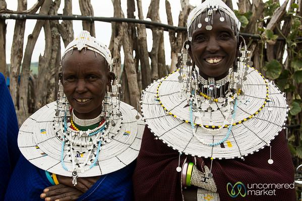 Maasai Women All Dressed Up - Tanzania