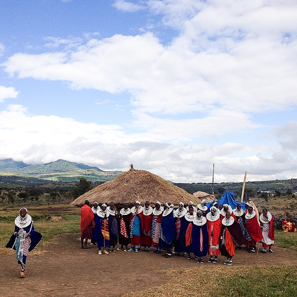 Maasai Women gather at Maasai party - northern Tanzania