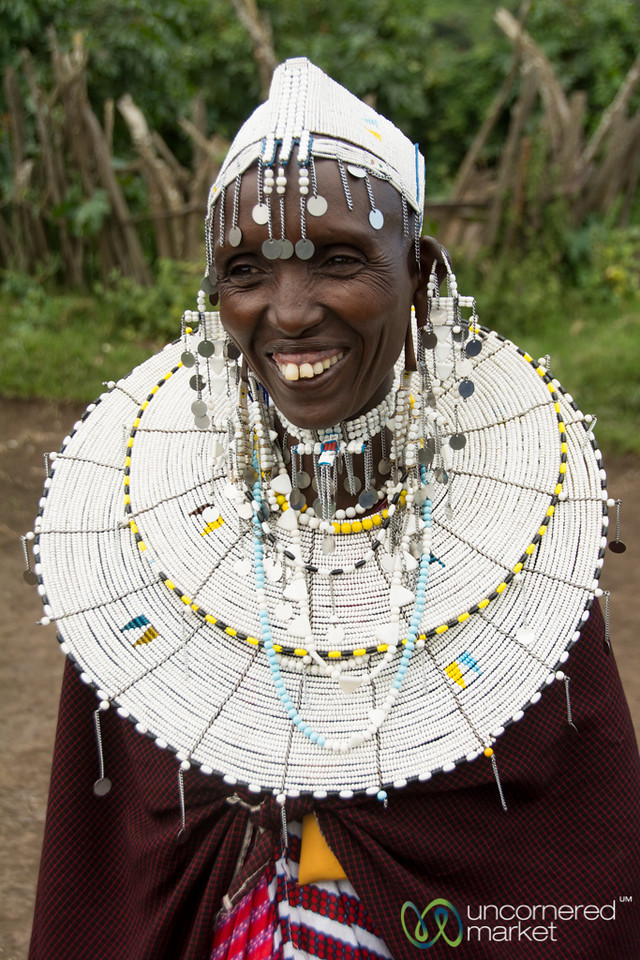 Maasai Woman Dressed Up for Party - Tanzania