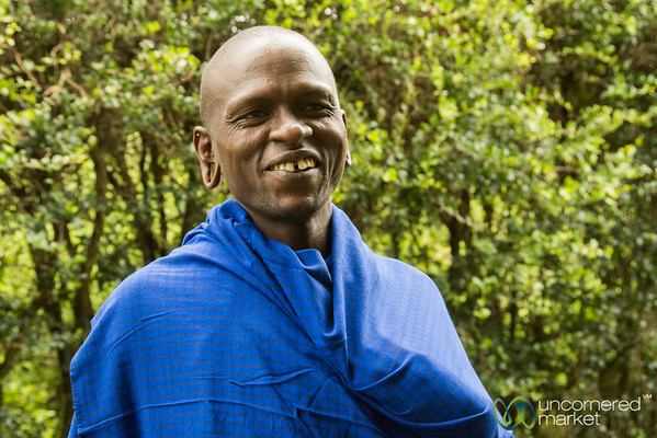 Amos, the Gardener for the Maasai Clean Stoves Project - Monduli, Tanzania