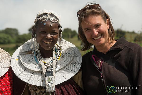 Audrey and Esupat, Maasai Village in Northern Tanzania