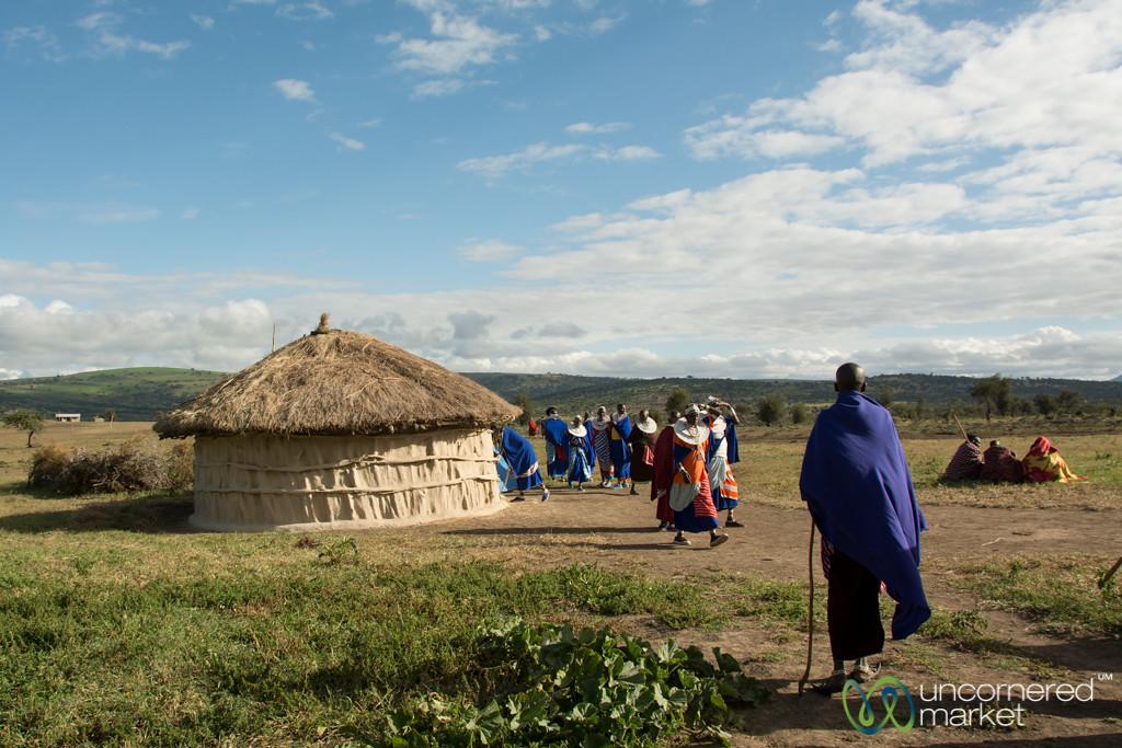 Maasai Village, Late Afternoon - Northern Tanzania