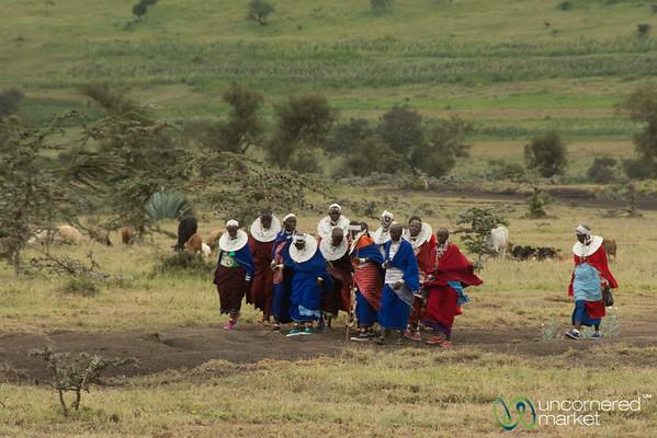 Maasai Women Arrive at the Party - Tanzania