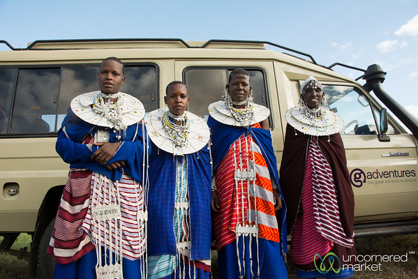 Maasai Women Hitch a Ride with G Adventures - Northern Tanzania