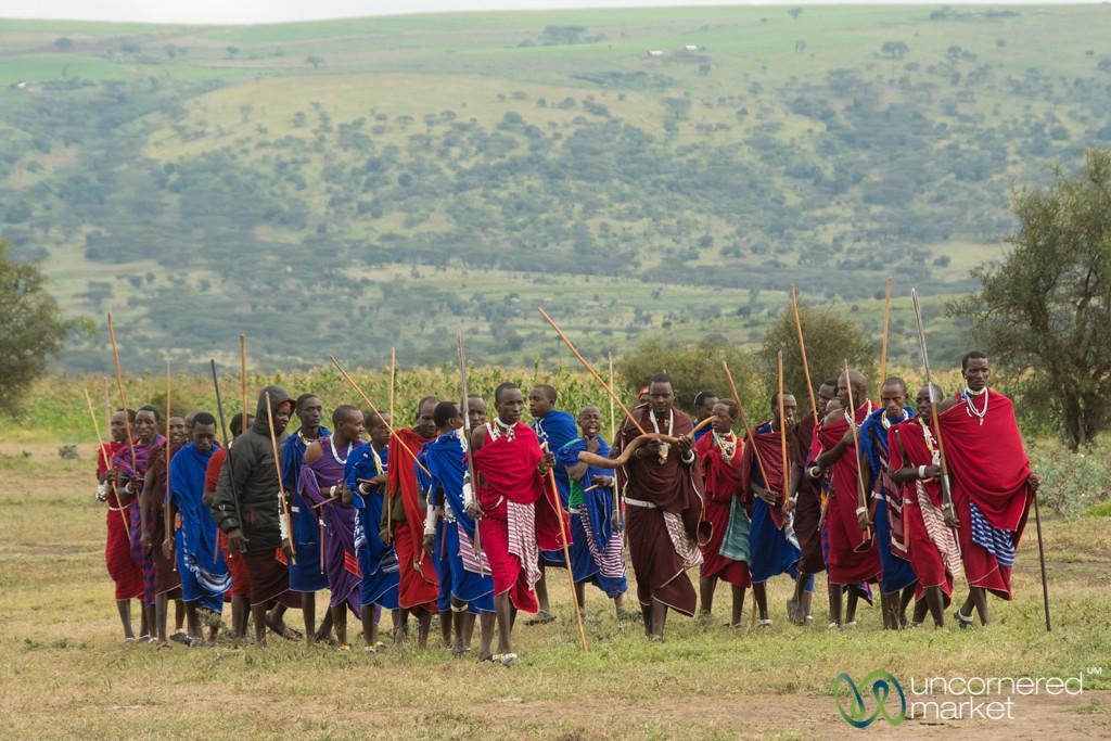 Maasai Men Arrive at the Party - Northern Tanzania
