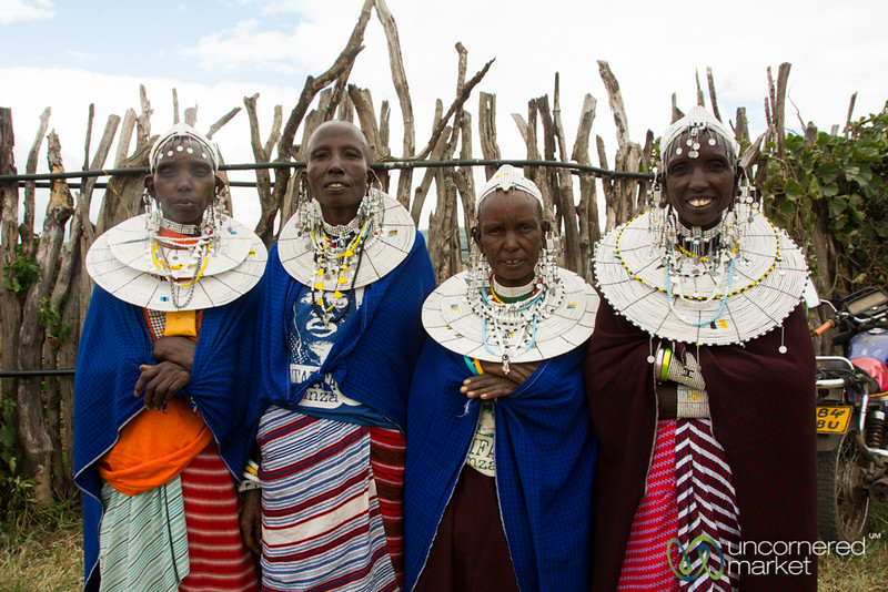 Maasai Women All Dressed Up for the Party - Tanzania