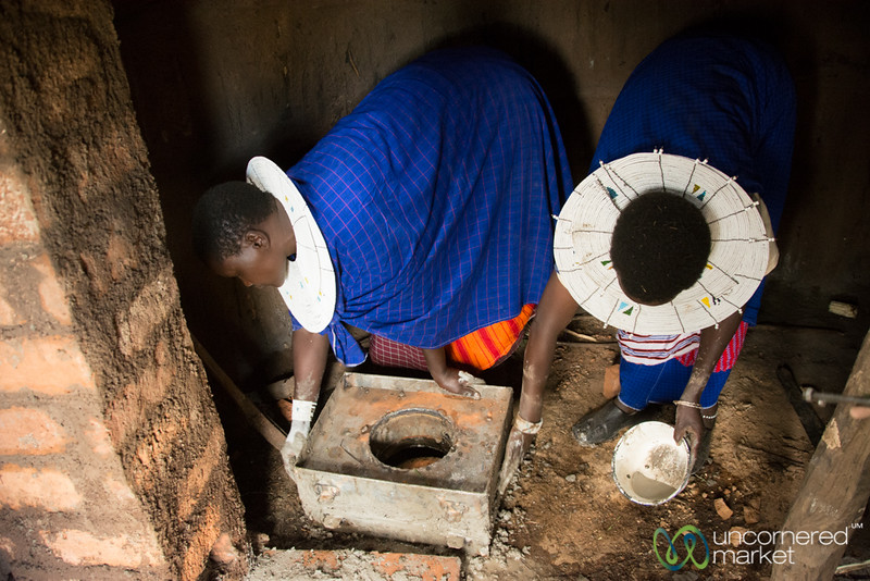 Installation of a Clean Stove Inside - Tanzania