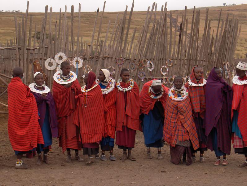 Maasai boma by Mary Fields