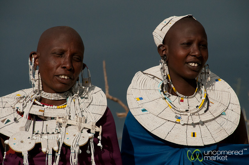 Masai Women in Traditional Dress - Lake Manyara, Tanzania