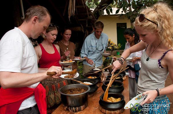 Tour Group Enjoys Tanzanian Feast - Mto wa Mbu, Tanzania