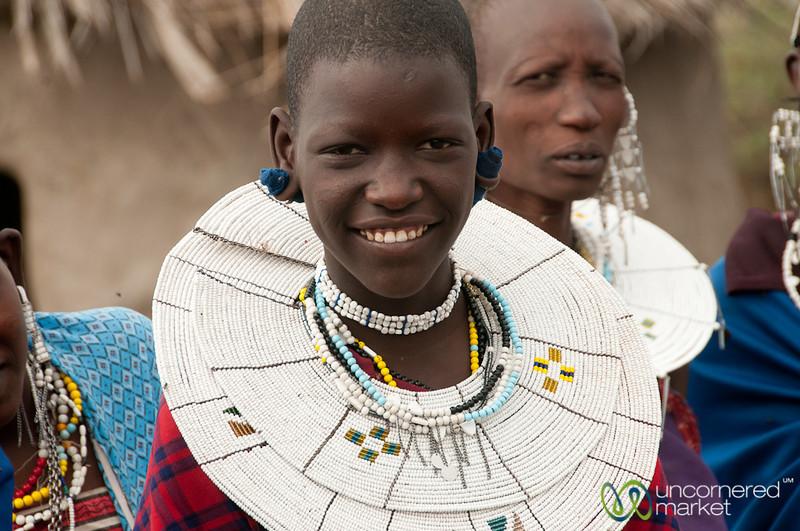 Masai Woman in Traditional Jewelry - Lake Manyara, Tanzania