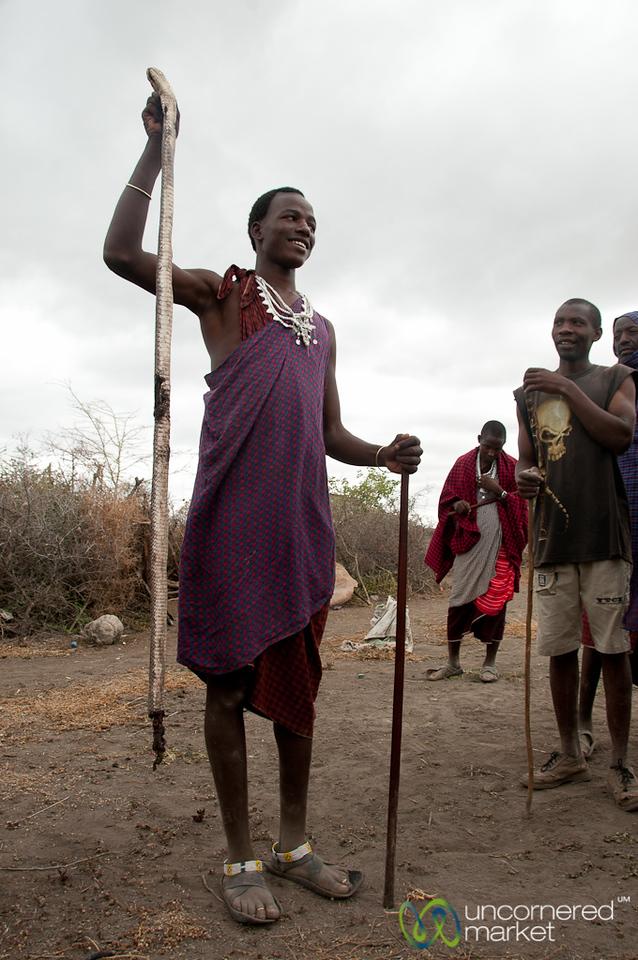 Showing Off Egyptian Cobra - Masai Village, Tanzania