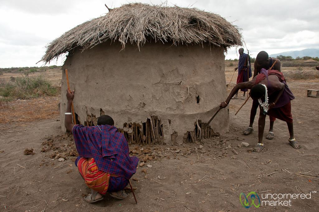 Tearing Apart Masai Home - Lake Manyara, Tanzania